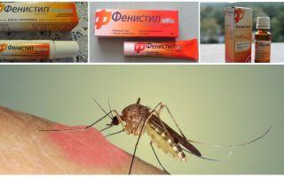 Gel Fenistil από τσιμπήματα κουνουπιών: οδηγίες, σχόλια και αναλόγους