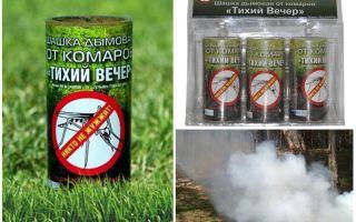 Βόμβα καπνού Ένα ήσυχο βράδυ κουνούπι