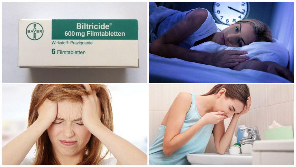 Παρενέργειες της λήψης Biltricid